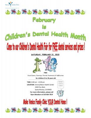 FREE Children's Dental Clinic February 21 at VFC - Saint